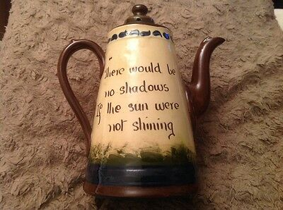 """Torquayware Teapot """"There Would Be No Shadows If The Sun Were Not Shining"""" (251)"""