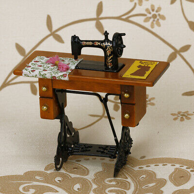Vintage Miniature Furniture Sewing Machine for 1/12 Scale Dollhouse Accessories