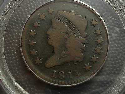 1814  Crosslet 4  PCGS G-6 Looks Like a 10  Classic Head  Large Cent   Nice Coin