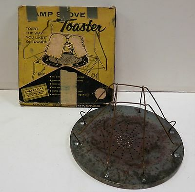 Vintage Camp Stove 4-Slice Bread Toast Wire Toaster Made In Canada (A4)