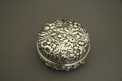 Dominick & Haff Sterling Silver Floral Repousse Dresser Box C. 1886