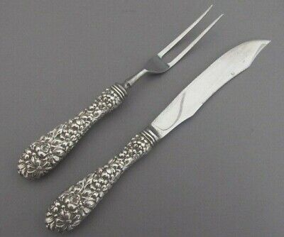 Stieff Rose  Sterling Silver 2Pc Steak Carving Set