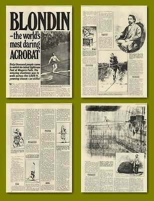 Blondin The World's Most Daring Acrobat Old Article