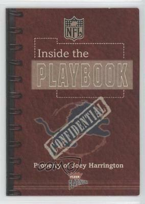 2002 Fleer Platinum Inside the Playbook #JOHA Joey Harrington Detroit Lions Card