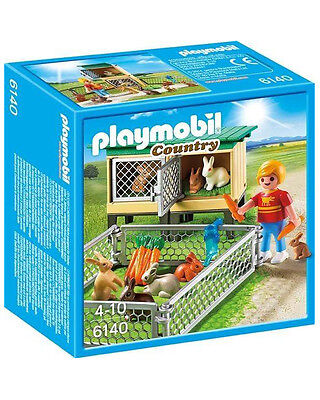 Playmobil - 6140 - Rabbit Pen and Hutch - Brand New