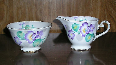 Hand Painted Vintage Creamer and Open Sugar Trimont China Occupied Japan