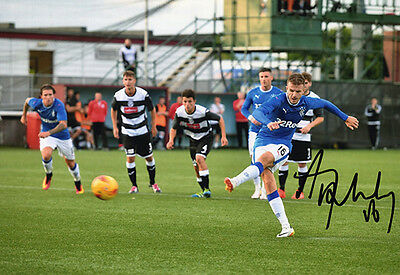 Andy Halliday, Rangers FC, signed 12x8 inch photo. COA.