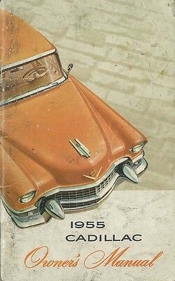 1955 Cadillac Owner Operator Manual User Guide Reference