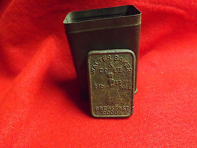 Vintage Walters Baker & Co Breakfast Cocoa Tin 1/2 LB. Can