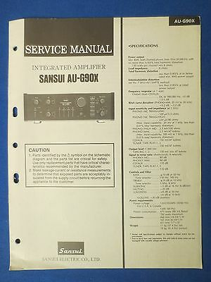 Sansui Au-G90X Service Manual Original Factory Issue The Real Thing