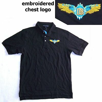 Doobie Brothers Embroidered Logo Blk Polo Shirt Med New