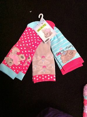 Marks And Spencer Pack Of 3 Pair Of Socks. 2-3 Yrs Old. Bnwt. Tatty Teddy