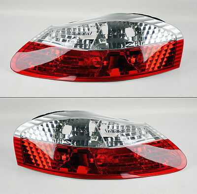 Porsche Boxster 986 1997-2004 Euro Red Clear DEPO Taillights Pair RH LH