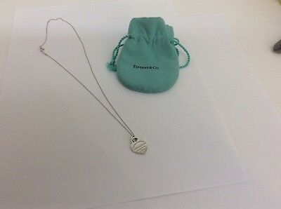 tiffany and company sterling necklace with heart return to tiffany small