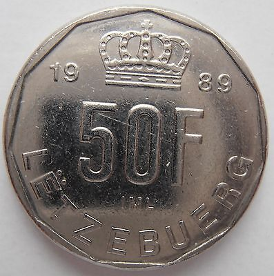 Luxembourg 50 Franc 1989