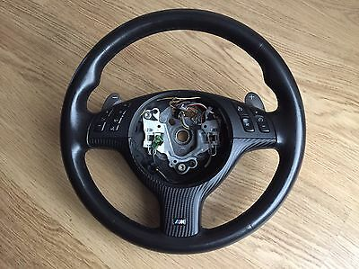 BMW E46 M3 SMG Steering Wheel Multifunction with Carbon Trim