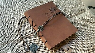 NOTEBOOK travel journal sketch book VINTAGE PU leather covers retro diary w KEY