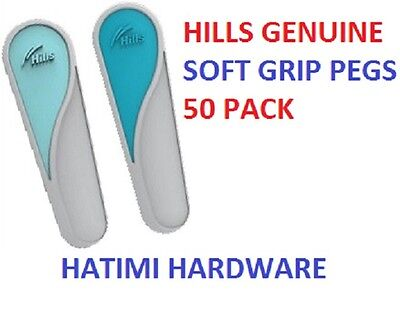 Hills Clothes Pegs Genuine Soft Grip Rubberised 50 Pack Fast & Free Delivery
