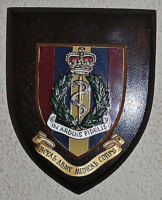 Vintage Royal Army Medical Corps mess plaque shield RAMC
