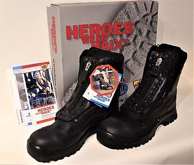 HAIX AIRPOWER X1  Black Steel Toe Leather Rescue, Forest Fire US SIZE 15 M