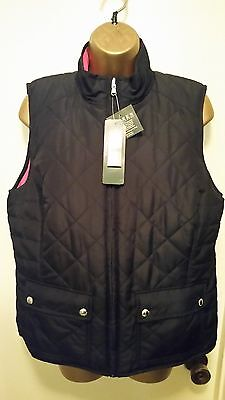 Womens Ralph Lauren Quilted Reversible Vest-Size L-Nwt