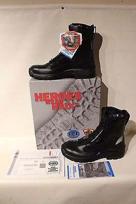 HAIX Airpower R2 Mens EMS & Station Black Leather Steel Toe Boots Size 14 1/2 M