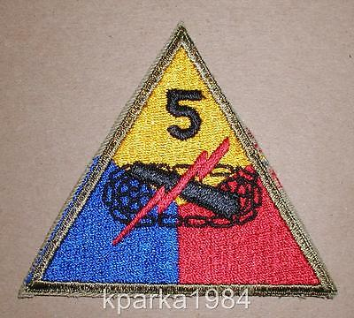 WW2 ERA US ARMY 5th ARMORED DIVISION PATCH