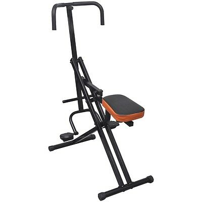 Folding Abdominal AB Exercise Machine Fitness Home Gym Shaper Body Horse Riding