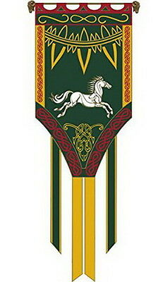 """""""Eomar""""  Lord of the Rings Flag/Banner- Large 26""""x72"""" w Pole-Import (FW-3025)"""