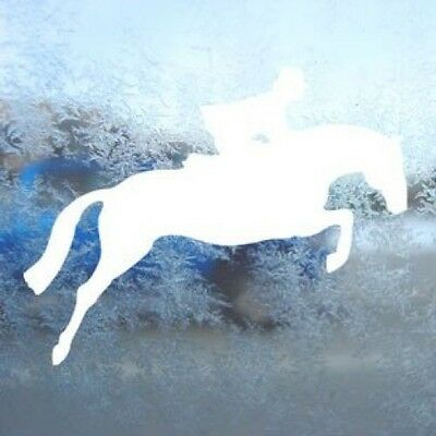 Jumping Horse White Decal Hunter Jumper Fox Hunt Car White Sticker