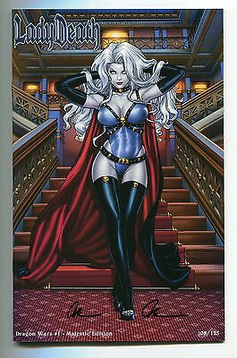 Lady Death Dragon Wars #1 Majestic Variant Richard Ortiz Cover Signed Pulido 125
