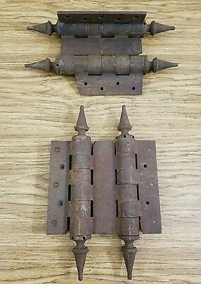 Antique Vintage Large Cast Iron Barn Door hinges