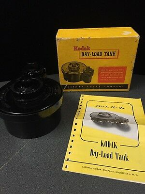 "Vintage Kodak ""Day-Load"" Film Processing Tank With Box and Instructions! (JJ)"