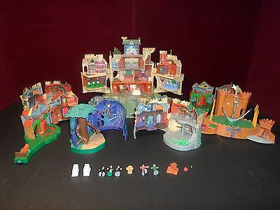Rare POLLY POCKET Harry Potter HOGWARTS Castle Playset Lot Quidditch and more!