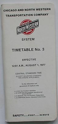 Chicago & North Western Railway 1977 System Employee Timetable  #3