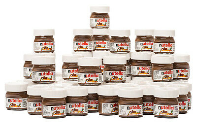 NUTELLA MINI 25g x 32 Pk Glass Jar Ferrero Hazelnut Chocolate Cocoa Cute Limited