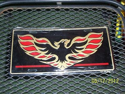 I Love Ebany Eagle Emblem Metal Moulded License Plate, Made In Usa.