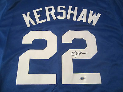 Clayton Kershaw LA Dodgers Hand Signed Autographed Jersey AI Certified