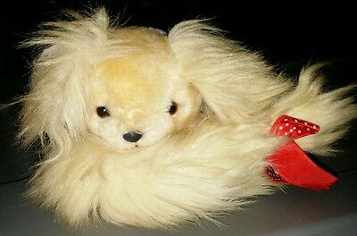 "Applause Furry Tails 1986 7"" curled up puppy dog. EUC"