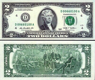"""USA - United State of America 2 Dollars 2009 """"D"""" Ohio FDS - UNC"""
