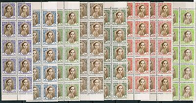 Iraq 1942 Sc#102 - 109, King Faisal II blks of 10, Complete Set, MNH** cp2
