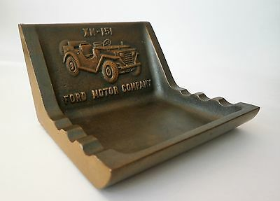 RARE Vintage Ford Motor Co. XM 151 Prototype Military MUTT Jeep Brass Ashtray