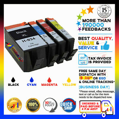 5pcs Compatible 934 935 XL Ink for HP Office Jet Pro 6812 6815 6820 Printer