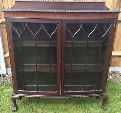 Antique Glazed Victorian Bow Fronted Display Cabinet
