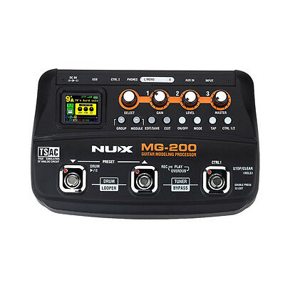 Nux MG-200 Guitar Modelling Multi-Effects Processor Pedal 55 Effect Models-New