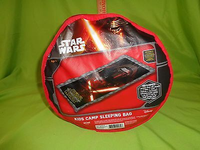 STAR WARS THE FORCE AWAKENS KIDS CAMP SLEEPING BAG 28 x 56 NEW NWT KYLO REN NEW