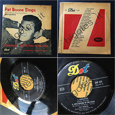 PAT BOONE Sings Bernardine Billy Vaughn SWEDISH DOT EP jazz