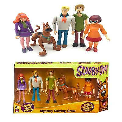 Scooby Doo Mystery Solving Crew 5 Poseable Action Figures TOY New Boxed