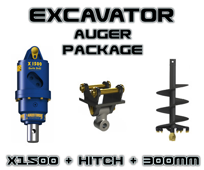 Auger Torque - Earthdrill X1500 + 300Mm Auger Package, Auger Drive, Digga,bobcat