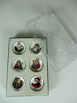 Vintage Collector Miniature Fine Porcelain Christmas Plates Limited Edition